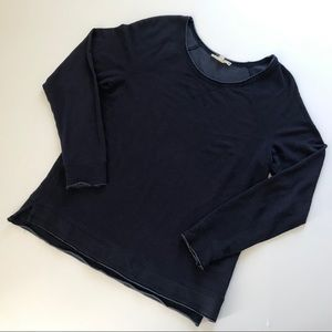 Soft Joie Navy Blue Long Sleeve Pullover Sweater